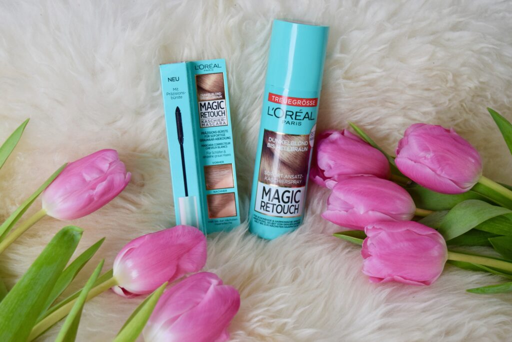 L'Oreal Magic Retouch Ansatz-Spray und Kaschier-Mascara im Review Test graue Haare abdecken